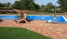 Gyerekek kedvence, a kerti medence. Hotel Margaréta Balatonfüred