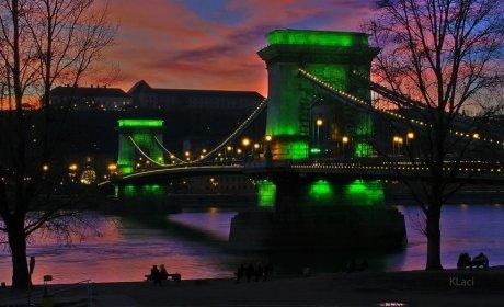 Puente de las Cadenas en Budapest, habitación de hotel