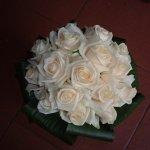 Menyasszonyi csokor vaj rózsából
