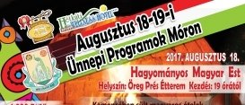 Augusztus 18-19-i Ünnepi Programok Móron