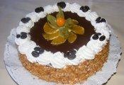 Narancsos tiramisu torta  (kakaós piskótaalap kávékrémmel töltve, babapiskótával, naranccsal díszít