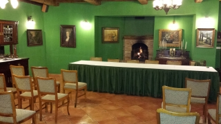 A korábbi Zöld szalon- ma Türkiz terem