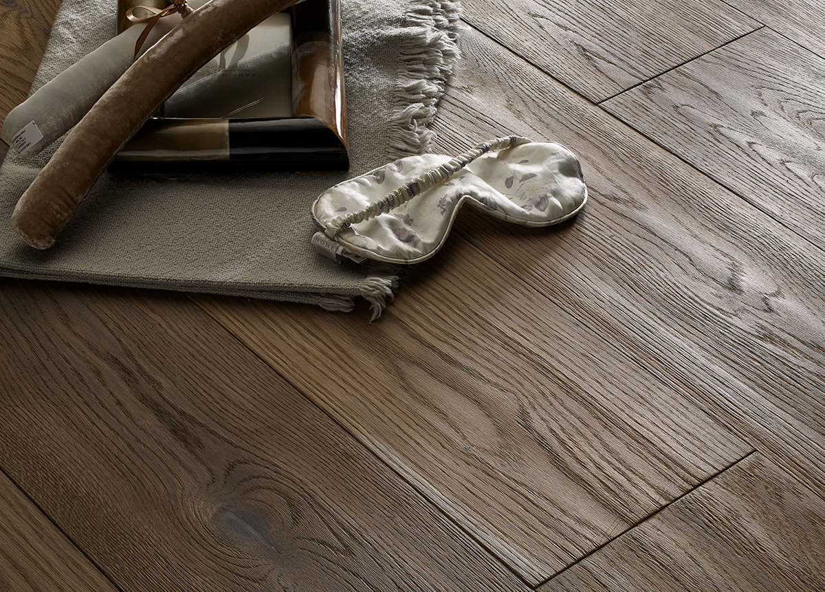 EDELHOLZ Natural Wave 3300 premium smoked wood flooring for underfloor heating