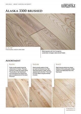 Alaska 3300 brushed Straight plank
