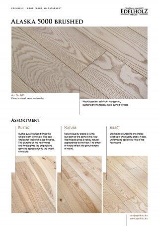 Alaska 5000 brushed Straight plank