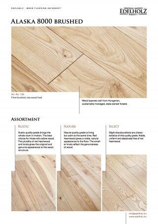 Alaska 8000 brushed Straight plank