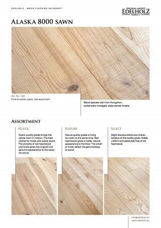 Alaska 8000 sawn Straight plank