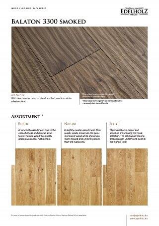 Balaton 3300 smoked Straight plank