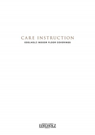 EDELHOLZ Care Instruction Flooring