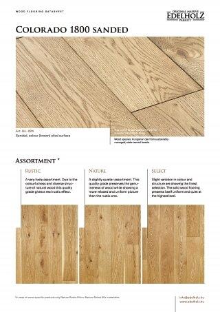 Colorado 1800 sanded Straight plank