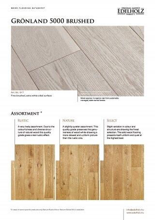 Grönland 5000 brushed Straight plank