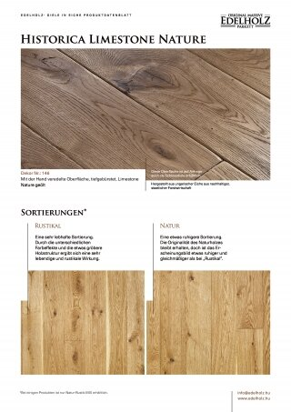 Historica Limestone Nature Straight plank
