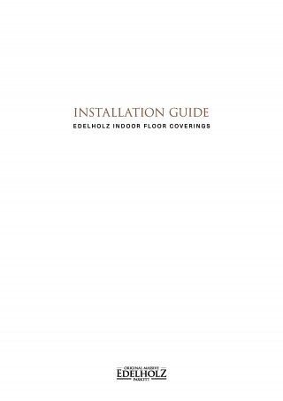 EDELHOLZ Installation Guide Flooring