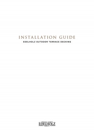 EDELHOLZ Installation Guide Terrace decking