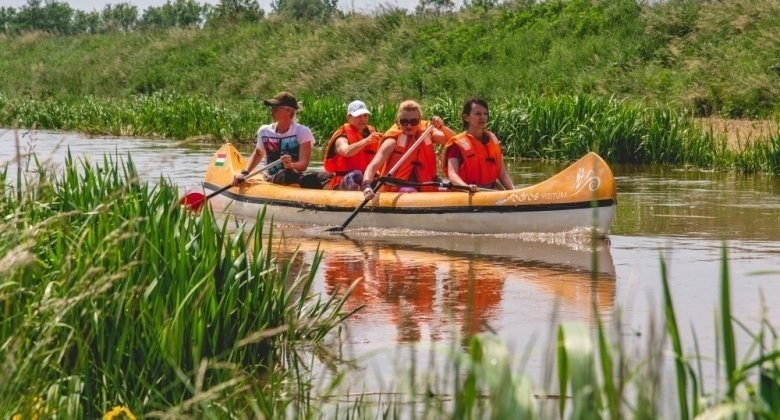 Kanufahren auf dem Fluss Zala