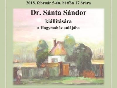 Dr. Sánta Sándor kiállítása