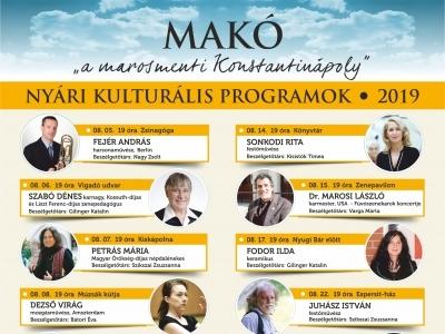 Nyári Kulturális Programok 2019