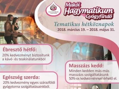TEMATIKUS HÉTKÖZNAPOK A Hagymatikumban 2018