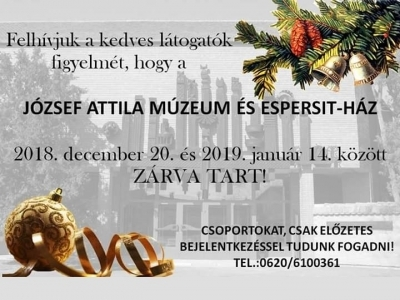 Múzeum ünnepi nyitva tartás