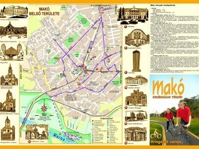Makói kerékpáros térkép