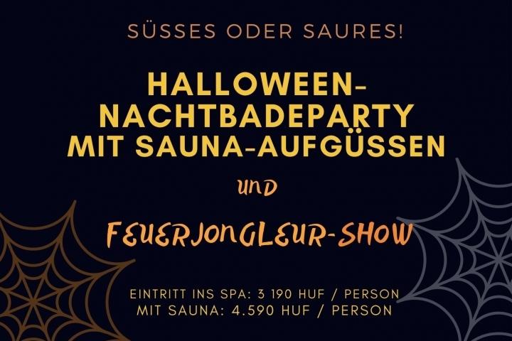 Halloween-Nachtbadeparty