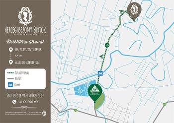 Biciklitúra térkép - Szarvasi Arborétum