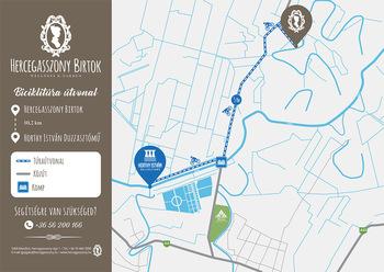 Biciklitúra térkép - Horthy István Duzzasztómű