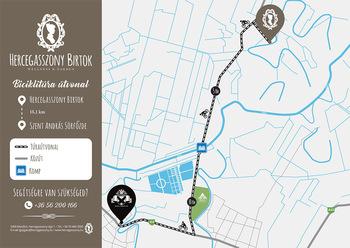 Biciklitúra térkép - Szent András Sörfőzde