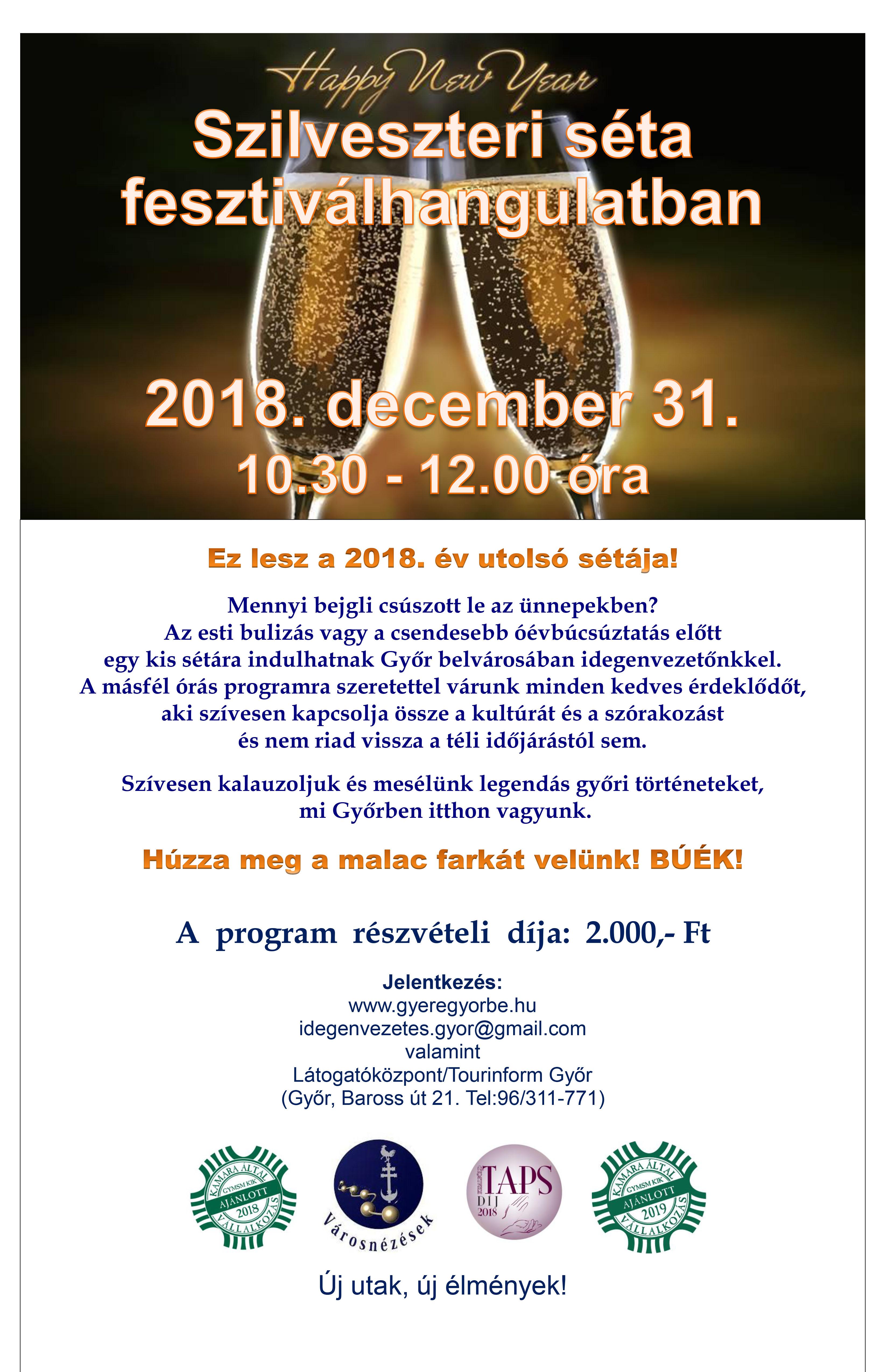 Szilveszteri séta fesztiválhangulatban 18.12.31.