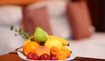 Gyümölcstál példa Hotel Margaréta Balatonfüred