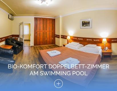 Bio-Komfort Doppelbett-Zimmer am Swimming Pool