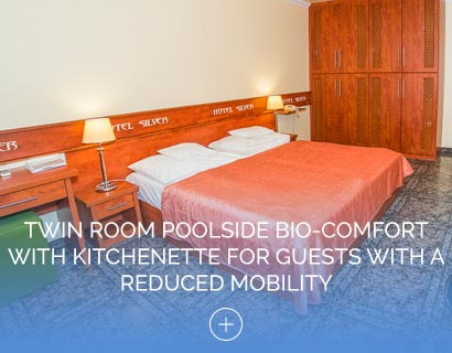 Twin Room Poolside Bio-Comfort with Kitchenette for Guests with a Reduced Mobility