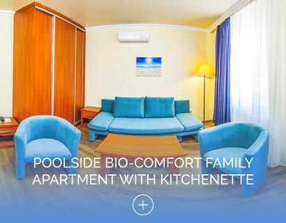 Poolside Bio-Comfort Family Apartment with Kitchenette