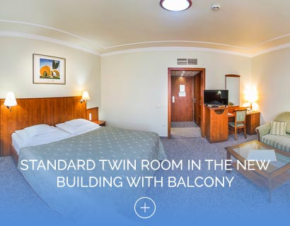 Standard Twin Room in the New Building with Balcony