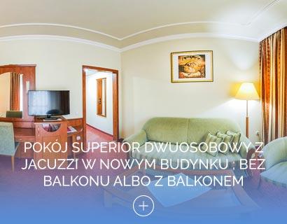Pokój Superior dwuosobowy z jacuzzi w Nowym budynku ; bez balkonu albo z balkonem