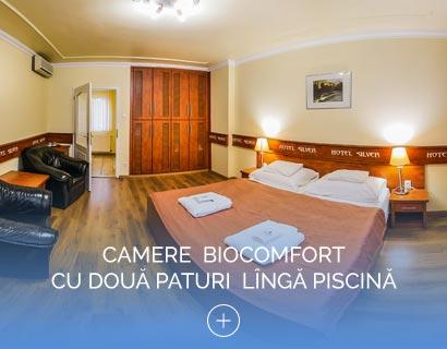 Camere  Biocomfort  cu Două Paturi  Lîngă Piscină