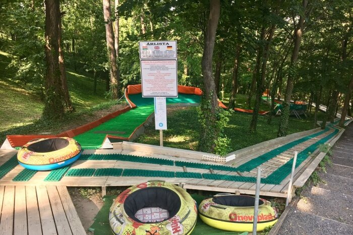 Adventure park and bobsleigh track