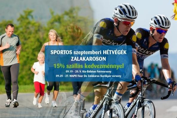 Sportos szeptemberi hétvégék Zalakaroson