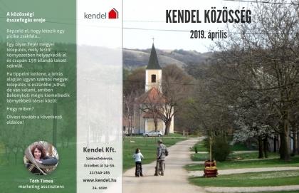 Új! Itt a Kendel Közösség 2019. áprilisi száma