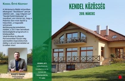 Megjelent a Kendel Közösség új, márciusi száma!