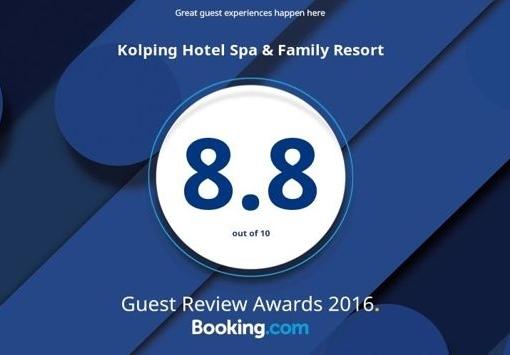 Vendégek értékelései alapján nyert díjat a Kolping Hotel