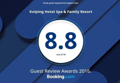 Eine Auszeichnung fürs Kolping Hotel aufgrund Gästebewertungen