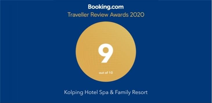 Traveller Review Awards díjat nyert a Kolping Hotel