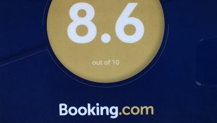 Elismerés a Booking.com-tól
