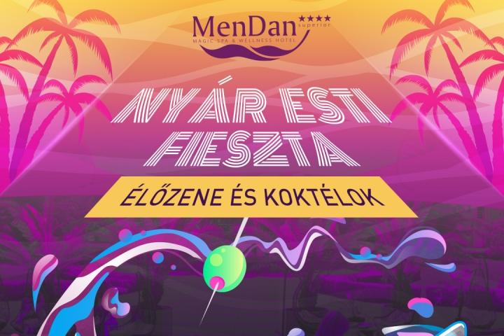 Nyár esti koktélparti a MenDan teraszán