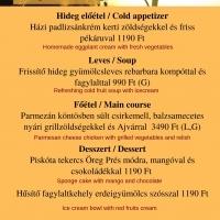 Könnyed nyári ajánlat éttermünkben