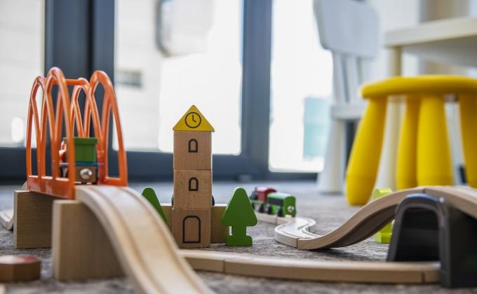 Villa Cuvée Egerszalók - indoor playhouse, toy railway