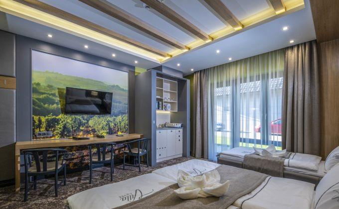 Villa Cuvée Egerszalók - Háromágyas szoba minikonyhával