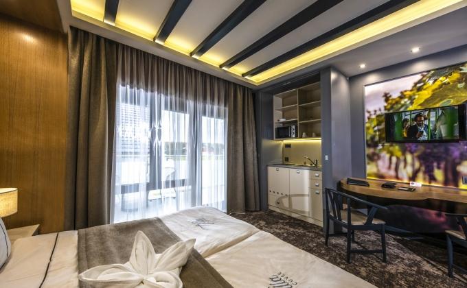 Villa Cuvée Egerszalók - kétágyas szoba minikonyhával