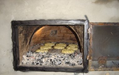 kemencében sütés